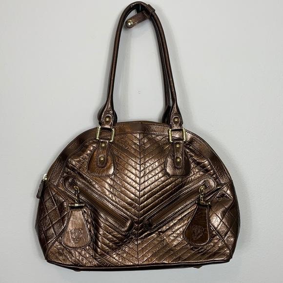 Original Sharif 1827 Bronze Satchel Handbag Dome